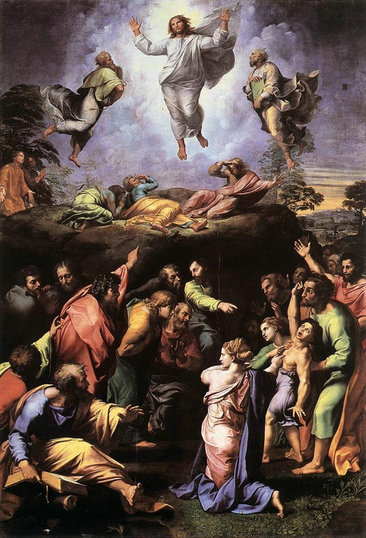 The Transfiguration by Raphael (1516-1520). A boy with epilepsy is depicted in the foreground