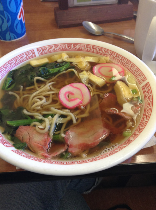 Saimin. Like ramen, but a different experience. My soul has been aching for this for about 5 years.