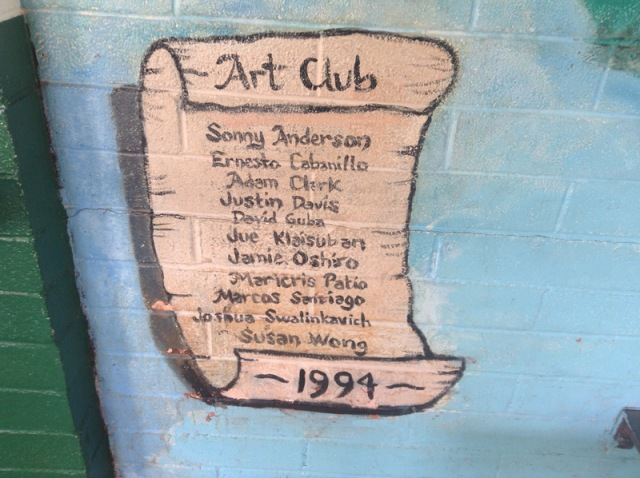 I painted a mural in middle school, it's still there